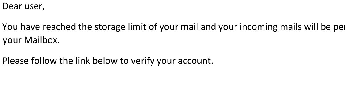Example Phishing email
